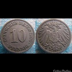10 pfennig 1900 A