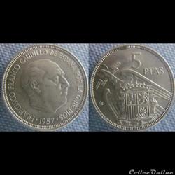 5 pesetas 1957 (70)