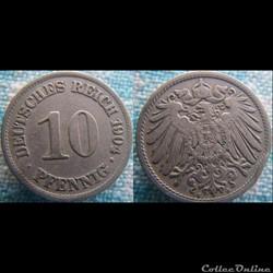 10 pfennig 1904 A