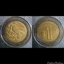 1 peso 2008