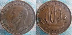 1/2 Penny 1937