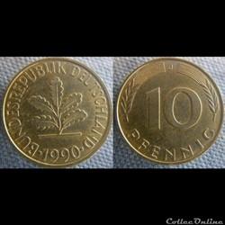 10 Pfennig 1990 J