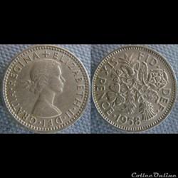 6 Pence 1958
