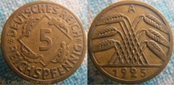 5 Reichspfennig 1925 A