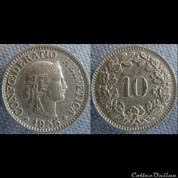 10 Rappen 1955 B