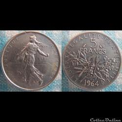 5 Francs 1964