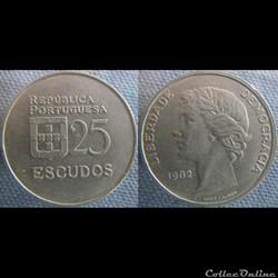 25 Escudos 1982