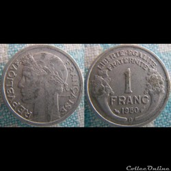 1 Franc 1950 B