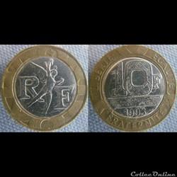 10 Francs 1993 - Faux