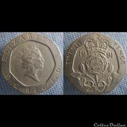 20 Pence 1991