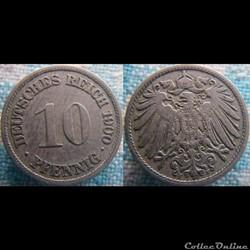 10 pfennig 1900 F
