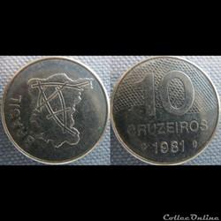 10 Cruzeiros 1981