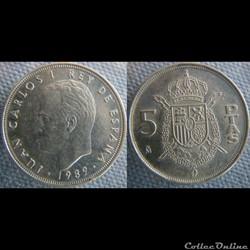 5 pesetas 1989