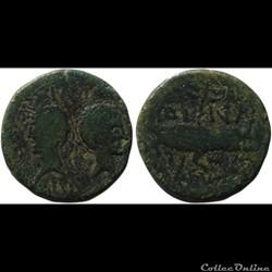 Auguste et Agrippa - Dupondius - Nîmes