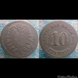 10 pfennig 1875 J