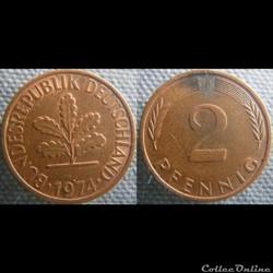 2 Pfennig 1974 F
