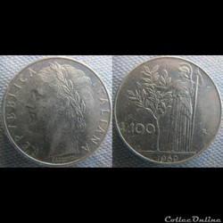 100 Lire 1969