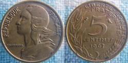 5 Centimes 1967