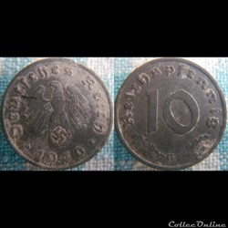 10 Reichspfennig 1940 G