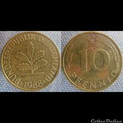 10 Pfennig 1988 G
