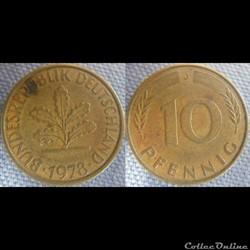 10 Pfennig 1978 J