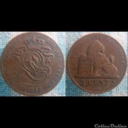 2 centimes 1863