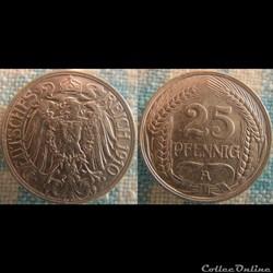 25 pfennig 1910 A
