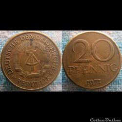 20 pfennig 1971 RDA
