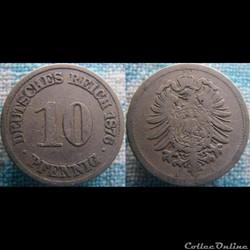 10 pfennig 1876 A
