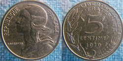 5 Centimes 1979