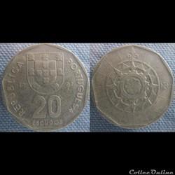 20 Escudos 1987