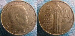 20 centimes 1962