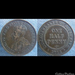 1/2 Penny 1914 H