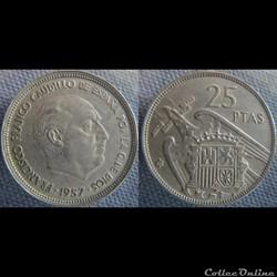 25 Pesetas 1957 (65)