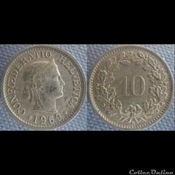 10 Rappen 1969 B
