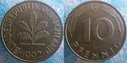 10 Pfennig 1992 D