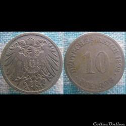 10 pfennig 1893 G