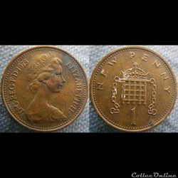 1 New Penny 1975