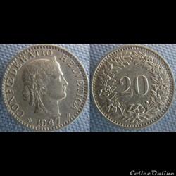 20 Rappen 1947 B