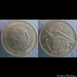 5 pesetas 1957 (75)