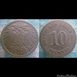 10 pfennig 1893 J