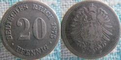20 Pfennig 1875 F