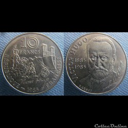 10 Francs 1985 Victor Hugo