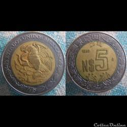 5 Nuevos Pesos 1992