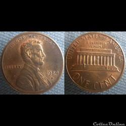 1 Cent 1984 D