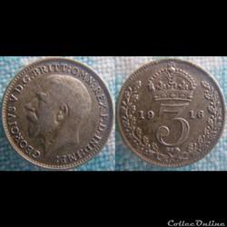 3 Pence 1916