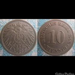 10 pfennig 1906 A