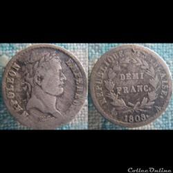 Demi Franc 1808 A