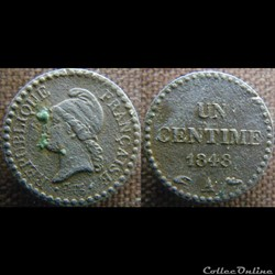 1 Centime 1848 A