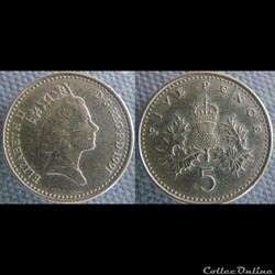 5 Pence 1991